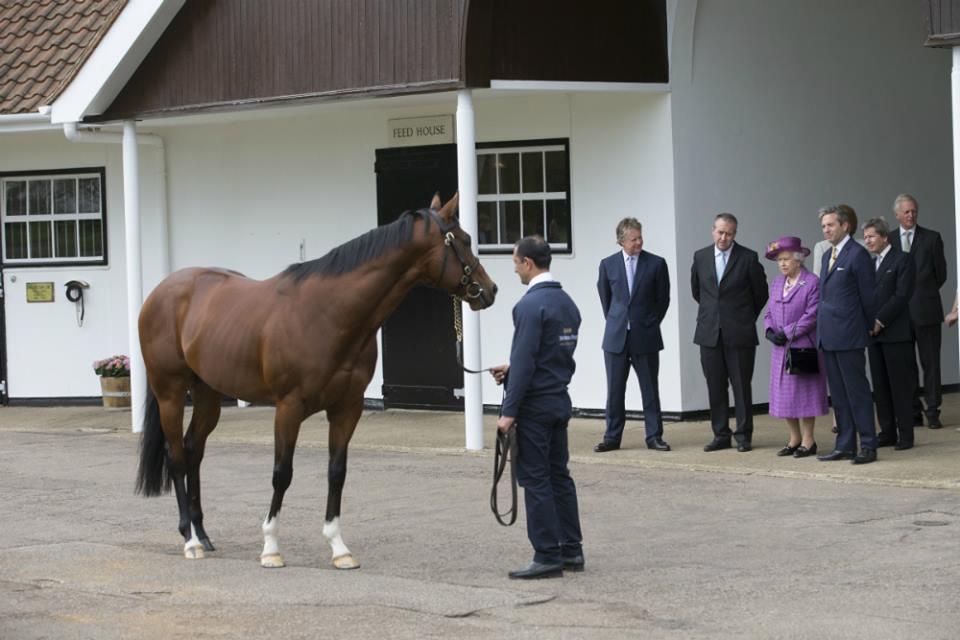 The Queen inspects Toronado