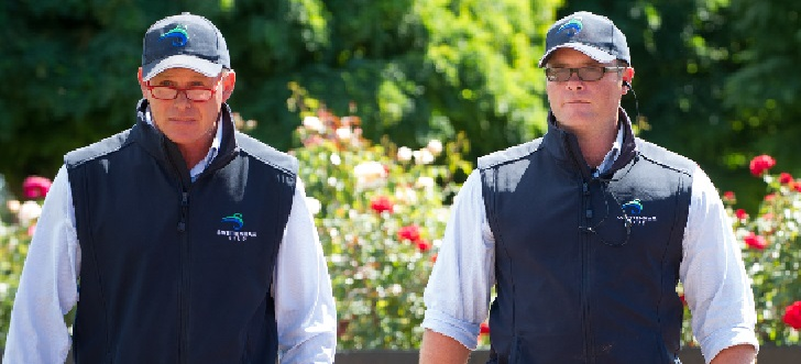 Brian Gorman (left) and Tim Jones at Swettenham Stud