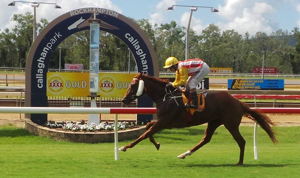 SECURITY BELLERunaway hat-trick at Rockhampton on Friday