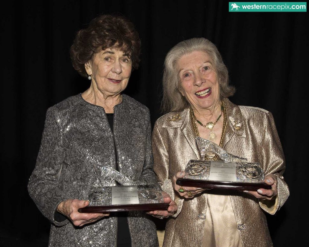 LIFETIME ACHIEVEMENT AWARDS Lois Taylor (left) and Marjorie Charleson honoured at the WAROA Awards